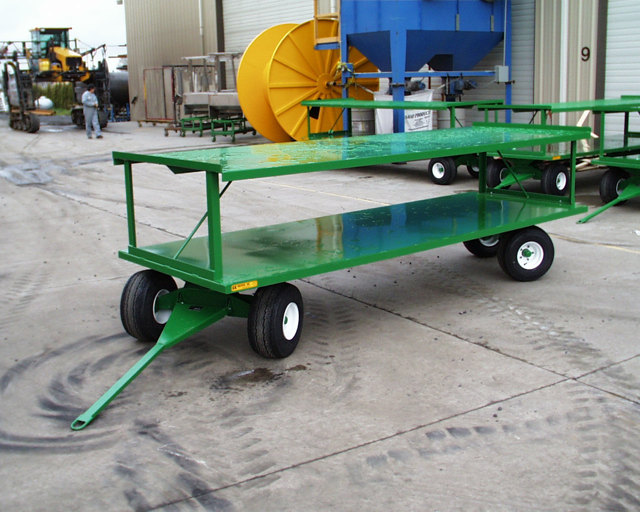 Double Stack Tracking Trailer